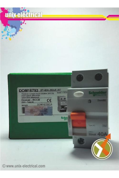 ELCB / RCCB 2P 30mA Domae Schneider Electric