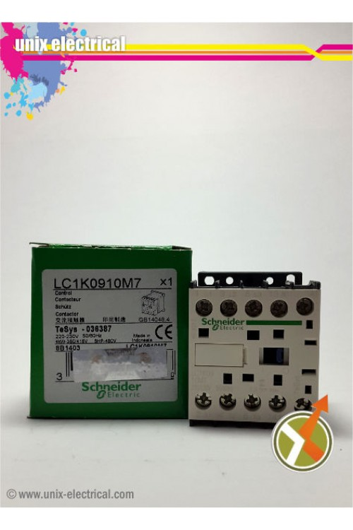 Magnetic Contactor 3P LP1K0910 Series Schneider Electric