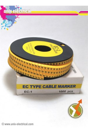 Cable Marker Huruf N