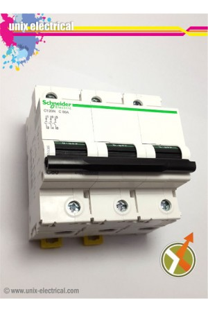 MCB 3 Phase iC120N Series Schneider Electric
